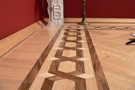 wood floor custom borders