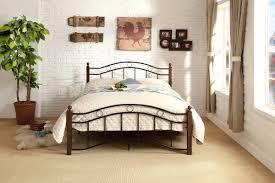 bed frame black metal art of furnishing u0026 mattress