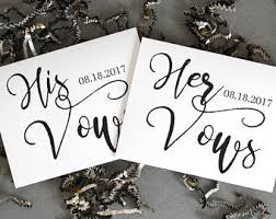 wedding vow cards vows etsy
