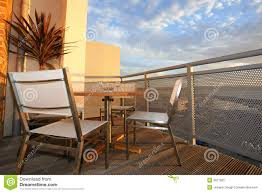 house balcony patio at sunset royalty free stock photo image