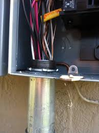 electrical what are my options for running feeder cable into an