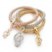 silver bracelet with pendant images Girls charm bracelets bangles gold silver plated friendship jpg