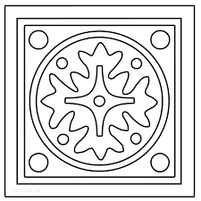 Rangoli Coloring Pages To Print Designs  anapaletoinfo