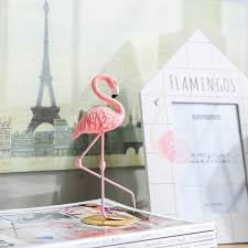 pink flamingo home decor online shop miz home 1 piece resin pink flamingo home decor figure