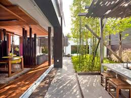26 modern contemporary outdoor design ideas outdoor spaces design modern masculine beach house design with white grey wall wooden ceiling table chair sofa pillow hardwood floor and bamboo garden with carpet