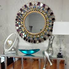 Round Mirrors Grace Jeweled Round Mirror 40