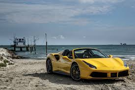 ferrari 488 wallpaper wallpapers ferrari 488 spider convertible yellow auto
