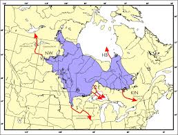 Ice Age Map North America by Quaternary Reconstructions Arctic Glacial Lake Agassiz