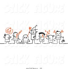 Halloween Stick Person Costume Clip Art Stick Figure Character Halloween Kids