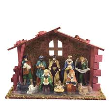 home accents holiday 5 25 in nativity scene set 12 piece