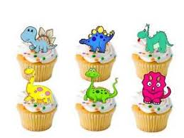 24 x transformers rice paper birthday cake toppers 24 x dinosaur stand ups fairy cup cake toppers edible rice