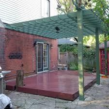 Transparent Patio Roof Patio Garrison Red Semi Transparent Pergola Rosepine Semi