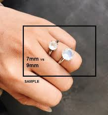 moonstone engagement rings 9mm stunning rainbow moonstone ring handmade jewelry by lovegem