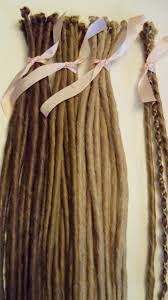 How To Dread Hair Extensions by 20 Se Single Ended Synthetic Dreads Light Medium Blonde Brown