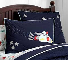 Space Themed Bedding Eric Space Quilt Pottery Barn Kids