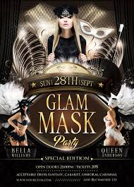 mask party glam mask party flyer template on behance