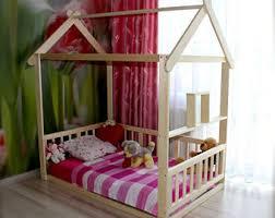 Kid Bed Frame Toddler Floor Bed Etsy