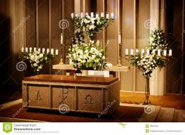 wedding flowers church wedding flowers and candles in a church royalty free stock photos