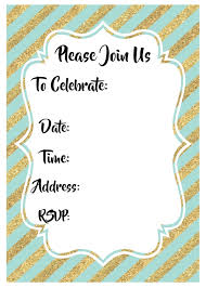 printable party invitations mint and gold party invitations free printable paper trail design
