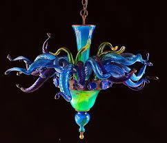Glass Blown Chandelier Blown Made