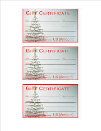 free christmas gift certificate sample templates at
