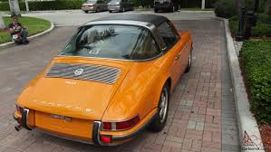 orange porsche targa porsche 911 t targa 2 2ltr perfect condition coa signal orange