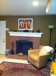 Living Room Red Brick Fireplace Traditional And Modern Fireplace Transformations Dramatic Befores
