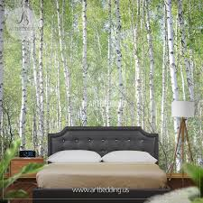 birches in forest photo wall mural artbedding birches in forest wall mural photo mural self adhesive peel stick wall mural