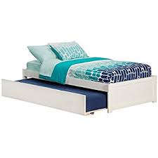 How To Build A Platform Bed With Trundle by Amazon Com Poundex Full Bed With Trundle Home U0026 Kitchen