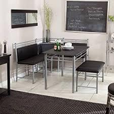 Black Dining Room Set With Bench Breakfast Nook Black Family Diner 3 Corner