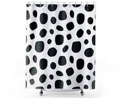 dalmatian curtain etsy