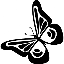 butterfly design top view rotated to left icons free