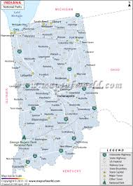 Map Of Washington State Cities by Indiana National Parks Map