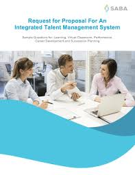 request for proposal template for an integrated talent management