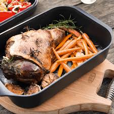 aga cuisine aga cast aluminium roaster with griddle lid w3056