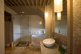 basement bathroom design ideas small basement bathroom with vanity plus mirror staircase