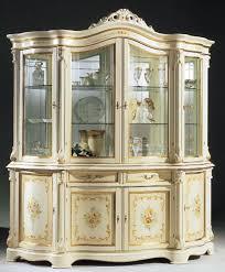 regina white made in italy 4 door china cabinet