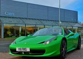 Ferrari 458 Green - hy kers 458 spider at carrs ferrari exeter