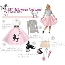 diy halloween costume 50 u0027s sock hop rock around the clock