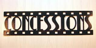 movie theater themed home decor wall decor our theater vinyl decal wall stickers letters words
