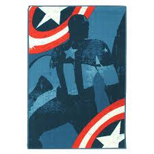 tapis chambre ado tapis captain america tapis marvel 120x80cm monbeautapis com