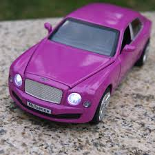 purple bentley mulsanne bentley mulsanne alloy diecast 1 32 car model sound light