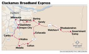 Portland Oregon County Map by Clackamas County U0027s 11 Million Broadband Project Halted In Oregon