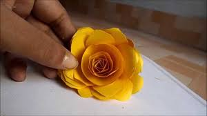 how to a make paper rose at home step by step easily 2014 youtube