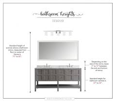 standard vanity light height bathroom how high to place your bathroom fixtures inspired to