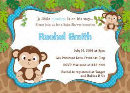 monkey boy baby shower baby shower invitations monkey boy baby showers