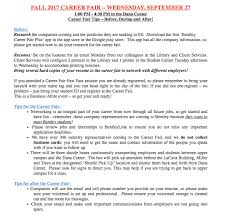 Resume To Google Fall Career Fair Tips U2013 Bentley Careeredge