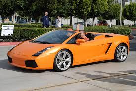 orange sports cars orange gallardo spyder at cars and coffee 5 madwhips