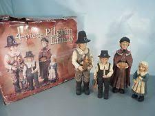 Costco Thanksgiving Thanksgiving Harvest Fall Autumn Large Pilgrim Family 4 Piece Set