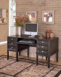 Home Office Furniture Kansas City Carlyle Contemporary Black Wood Home Office Desk W Keyboard Tray